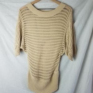 Banana Republic Beige Knit Sweater Top Small